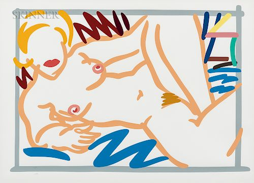 Tom Wesselmann (American, 1931-2004)  Judy on a Blue Blanket