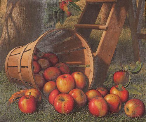 Levi Wells Prentice (American, 1851-1935)  A Basket of Apples