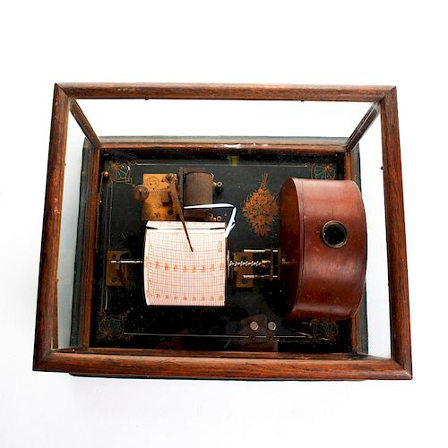 19TH CENTURY FRIEZ HYGROGRAPH TIPPING BUCKET RAIN GAUGE