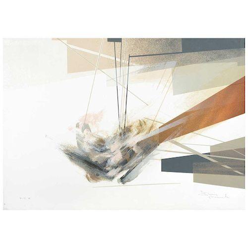 """GUSTAVO ARIAS MURUETA, """"Untitled"""".  Signed Screenprint P.T. 51. 18.1 x 25.5"""" (46 x 65 cm)"""