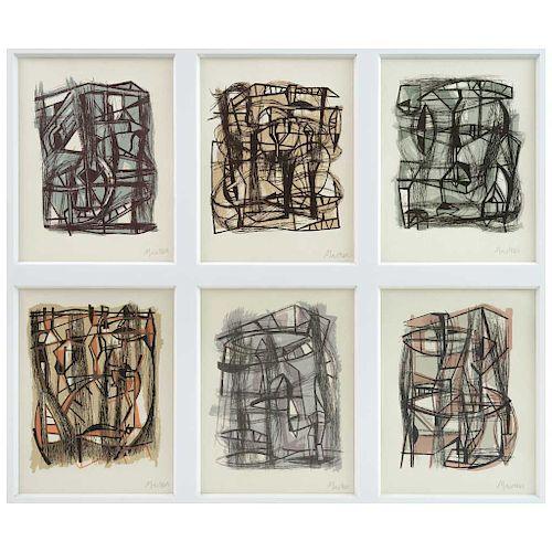 "GABRIEL MACOTELA, Sin título (""Untitled""). Signed Screenprint w/o printing numbers 8.6 x 6.2"" (22 x 16 cm) each, pieces: 6"