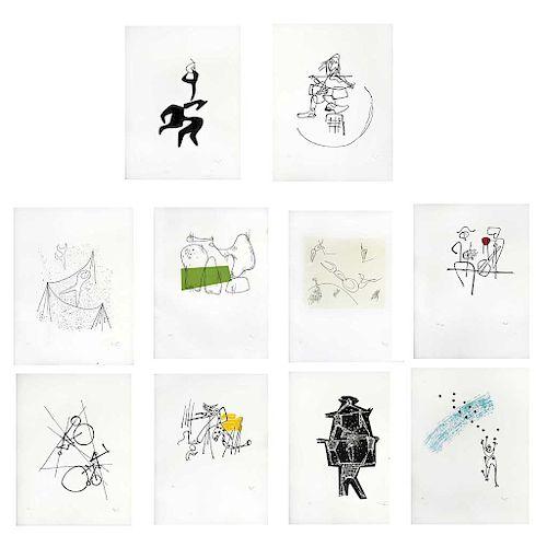 "MATHIAS GOERITZ, El circo, 1949 (""The Circus, 1949""), Signed Screenprints H. C., 11.8 x 9.2"" (30 x 23.5 cm), Pieces: 10"