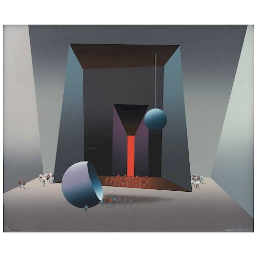 "KURT LARISCH, Sin título (""Untitled""), Signed Screenprint P / T, 19.6 x 23.6"" (50 x 60 cm)"