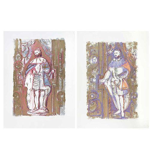 "CARMEN PARRA, Sin título (""Untitled""), Signed Screenprints Pt / 1 and Pt / 3, 23.6 x 15.7"" (60 x 40 cm) and 24.4 x 16.5"" (62 x 42 cm)"