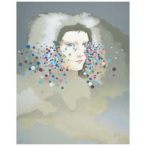 "ADRIÁN TAVERA, Sin título (""Untitled""), Signed Screenprint P. T., 23.6 x 18.8"" (60 x 48 cm)"