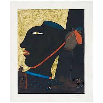 "JAVIER ARÉVALO, Mecapalero (""Porter""), Signed & dated Mex 91, Etching 60 / 100, 24.4 x 19.2"" (62 x 49 cm)"