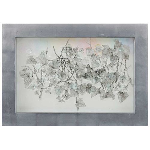 """ELENA ARAUZ(Mexico City, 1981 - ) Tarde de lluvia (""""Rainy Afternoon"""") Additional Information:Signed and dated 18Etching intervened with acrylic C"""