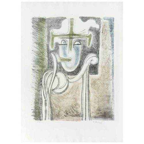"""JUAN SORIANO, Lupe Marín, Signed and dated 62, Screenprint P. A.,  21.6 x 17.3"""" (55 x 44 cm)"""