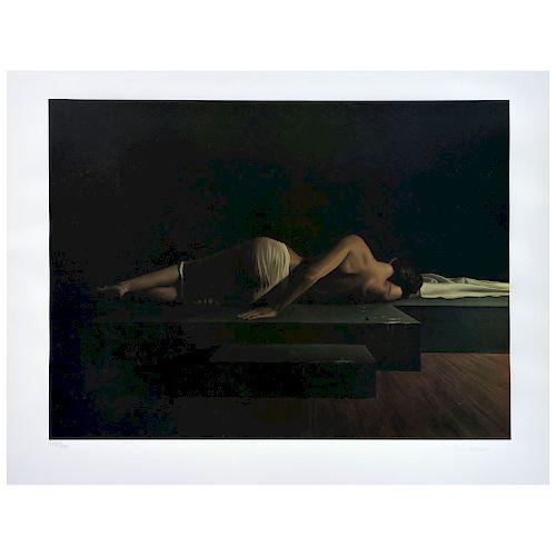 "SANTIAGO CARBONELL, Figura en reposo (""Resting Figure""), Signed Offset Screenprint 215 / 250, 14.9 x 20.6"" (38 x 52.5 cm)"