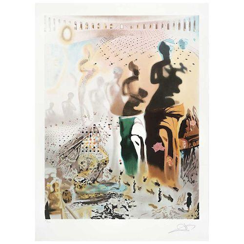 "SALVADOR DALÍ, Le torero hallucinogène, Signed Screenprint 45 / 300, 25 x 18.8"" (64 x 48 cm)"