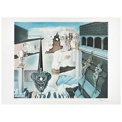 "SALVADOR DALÍ, L'homme invisible, Signed Lithograph 126 / 300, 18.8 x 23.2"" (48 x 59 cm)"