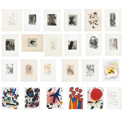 Screenprints and engravings w/o, Various Artists including:  Pierre Bonard, Alexander Calder, Salvador Dalí, Jhonny Friedlander, et al.