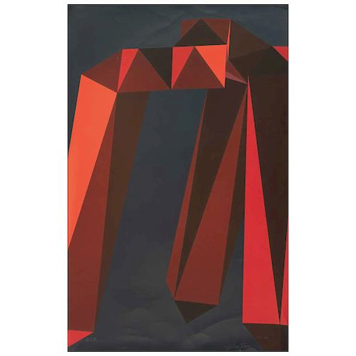 "ENRIQUE CARBAJAL ""SEBASTIAN"", Sin título (""Untitled""), Signed Screenprint P / T III, 34.6 x 22"" (88 x 56 cm)"