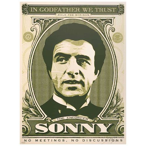 """SHEPARD FAIREY, Sonny, Signed and dated 06, Screenprint 24 / 500, 25 x 17.9"""" (64 x 45.5 cm)"""