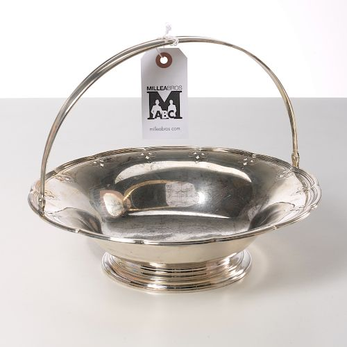 Tiffany & Co. pierced sterling footed basket