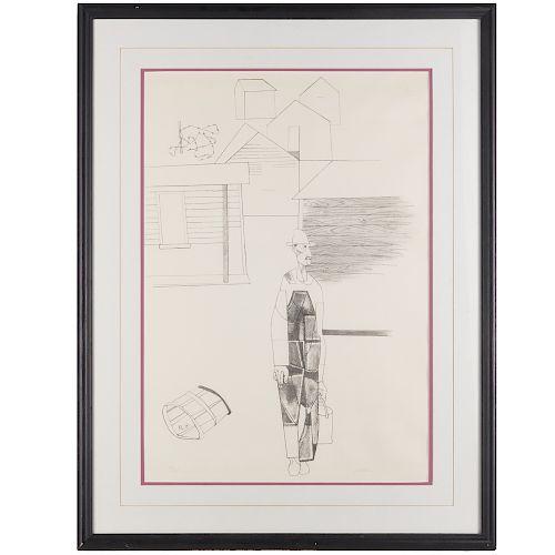 Robert Gwathmey, lithograph