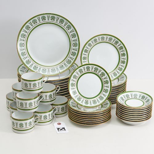 Richard Ginori Ercolano Green china set