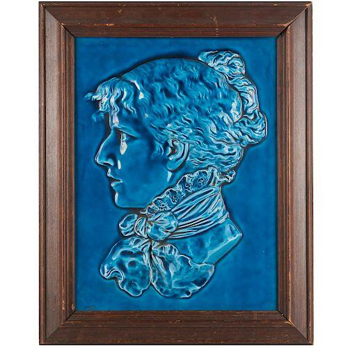 Large Schutz Cilli majolica relief plaque