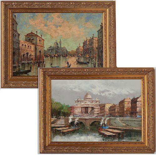 Italian School, (2) paintings