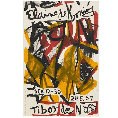 Elaine de Kooning, signed screenprint