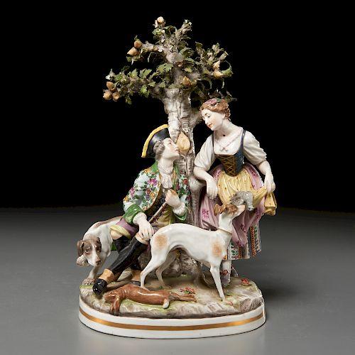 Passau porcelain figural group