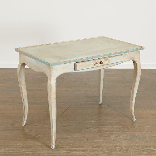 Louis XV style painted bureau plat