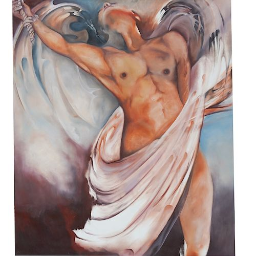 Nestor Romero Arevalo (B. 1958 Colombian) Oil Painting