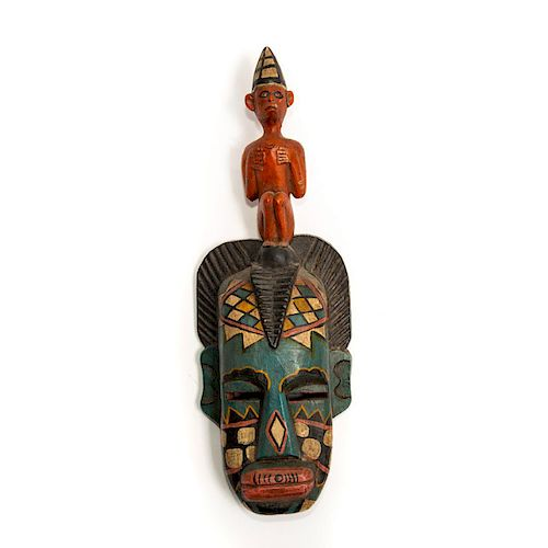 AUTHENTIC AFRICAN TRIBAL MASK FROM GAMBIA