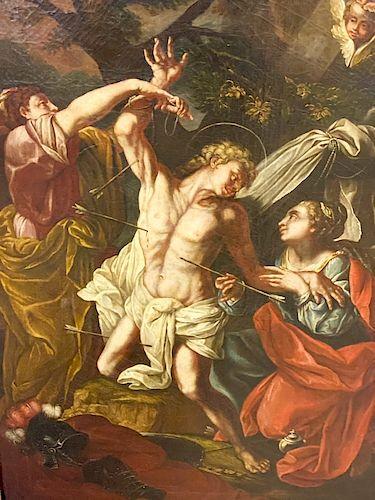 17th Century Painting Italian School Religious