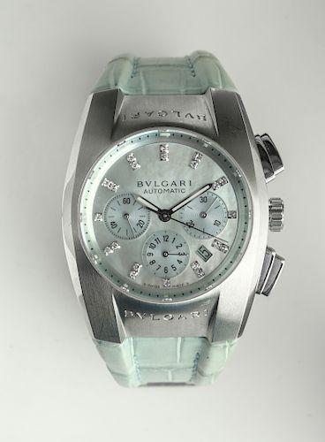 Bulgari Ergon Stainless Steel Chronograph Watch