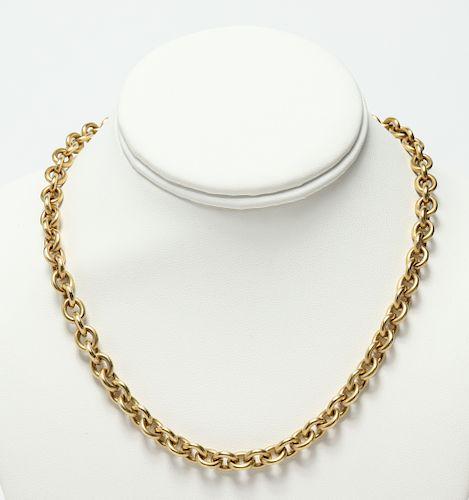 Slane & Slane 18K Yellow Gold Chain Necklace