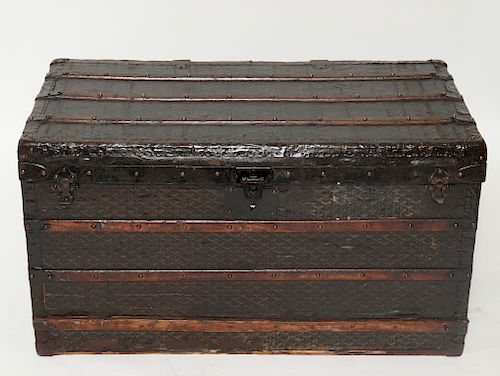 "Antique Goyard ""Malles Maroquinerie"" Steamer Trunk"