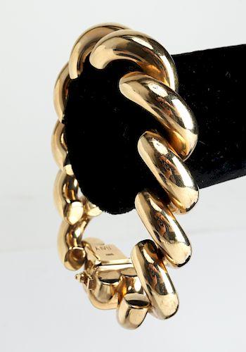 Vintage San Marco 14K Yellow Gold Bracelet