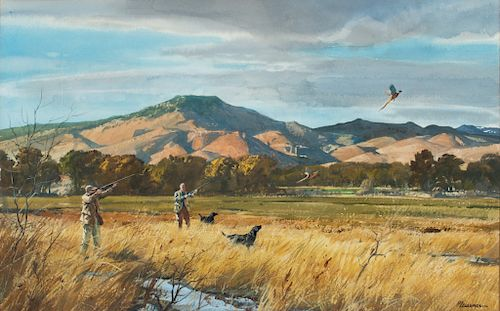 Ogden M. Pleissner (1905-1983)  Western Pheasant Hunting