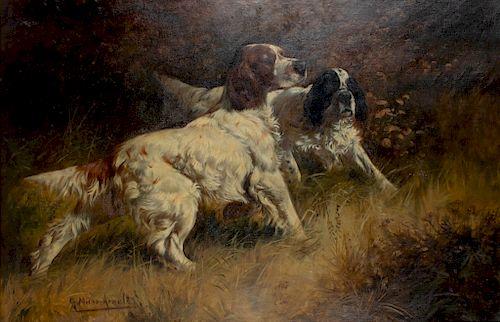 Gustav Muss-Arnolt (1858-1927)  Two Setters