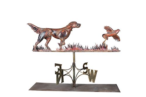 Travis Tuck (1943-2002)  Setter and Grouse Weathervane