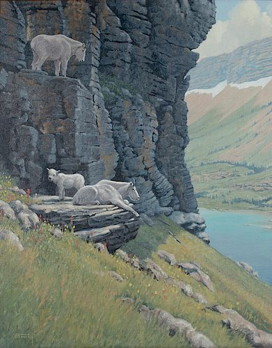 Jerome Connolly (1931-2016) Mountain Goats