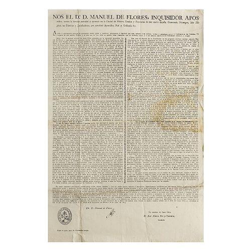 Flores, Manuel de. Edicto sobre la Prohibición de Textos Insurgentes. México, 8 de julio de 1815.