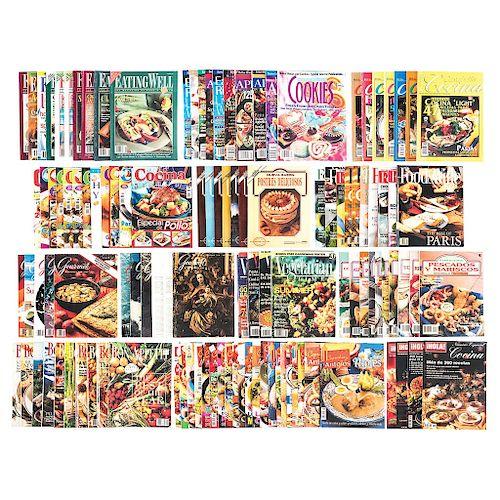 Colección de Revistas de Cocina Mexicana e Internacional. Años 1960 - 2000. Total de piezas: 1,935.