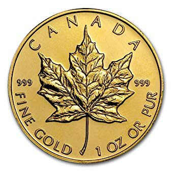 .9999 Fine Gold 1 oz Canadian Maple Coin