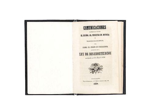 Comunicaciones entre el Ministro de Justicia y Negocios Eclesiásticos, y el Sr. Obispo de Guadalalajara... 1858.