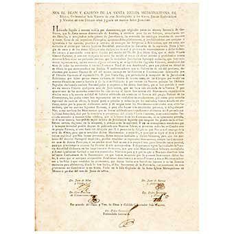 Mier y Villar, Juan de - Sarría y Alderete, Juan de - Villaurruia... Edicto sobre la Excomunion del Dr.D. José María Cos. México, 1812.