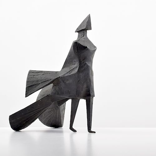 "Lynn Chadwick ""Walking Woman"" Bronze Sculpture"
