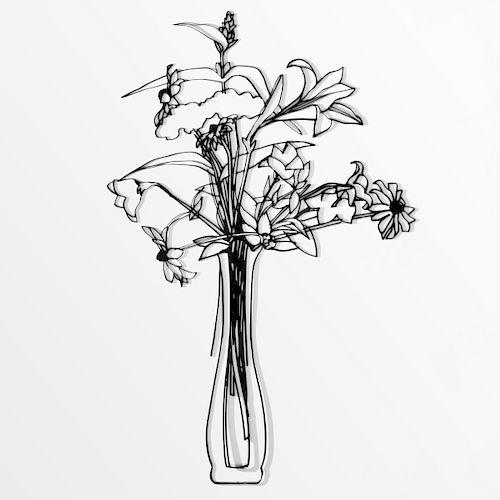 "Tom Wesselmann ""Wildflower Bouquet"" Steel Drawing Sculpture"