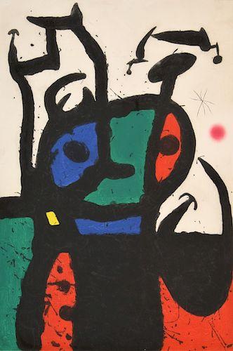 "Large Joan Miro ""Le Matador"" Etching, Signed Edition"