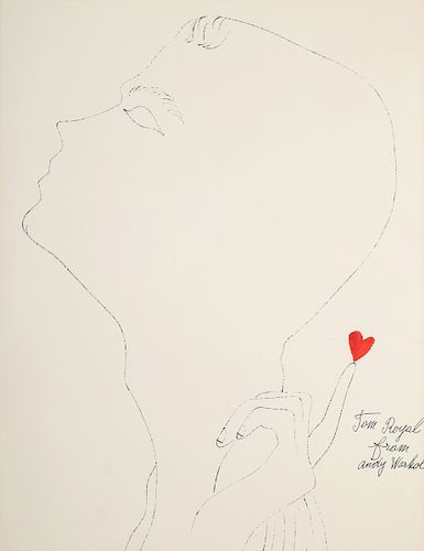 """Andy Warhol """"Tom Royal"""" Blotted Line, Limited Edition"""