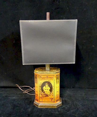 COLMAN'S MUSTARD TIN LAMP