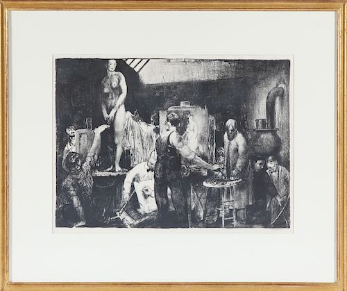 """George Bellows """"The Life Class"""" Lithograph"""