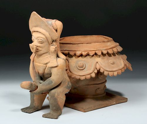 Jamacoaque Figural Pottery Vessel - Huge Phallus