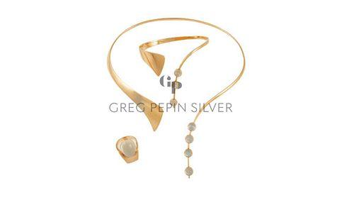 Bent Gabrielsen 14kt Gold Jewelry Suite With Moonstones
